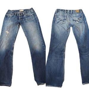 BKE Warlow Stretch Boot Cut Jeans 26×31 1/2